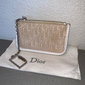 Authentic Christian Dior trotter key chain wallet